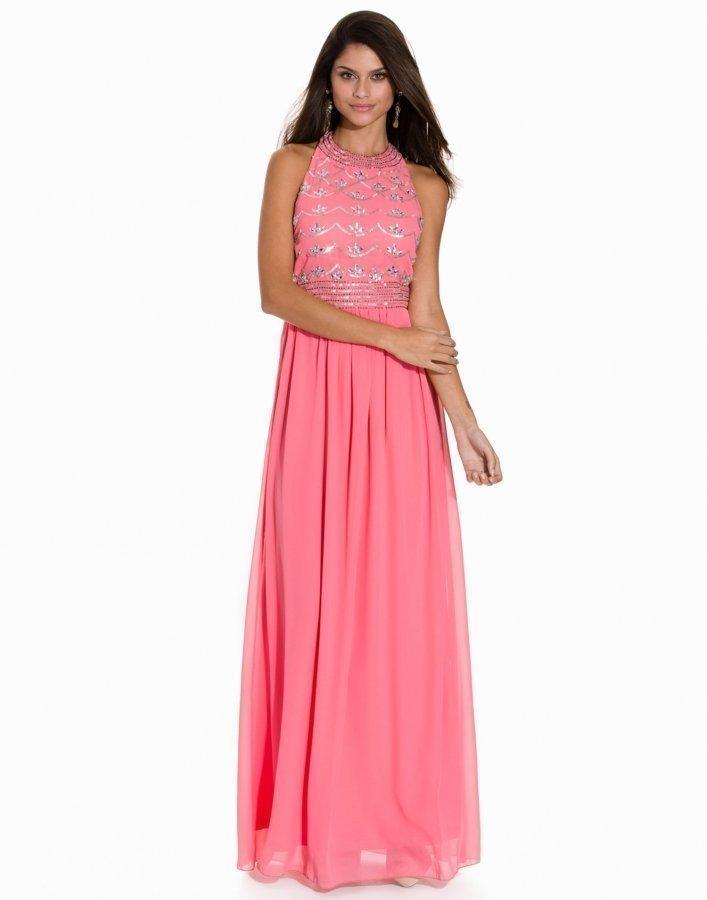 Nly Eve Decor Open Back Dress Maksimekko Vaaleanpunainen ... ad2b59d79f