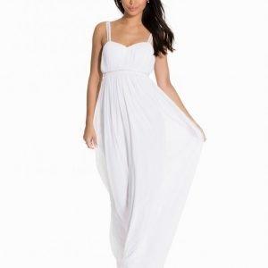Nly Eve Diamond Strap Gown Maksimekko Valkoinen
