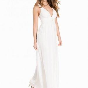 Nly Eve Empire Cross Back Dress Juhlamekko Valkoinen