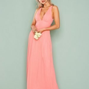 Nly Eve Empire Cross Back Dress Maksimekko Vaaleanpunainen