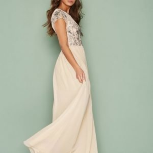 Nly Eve Exclusive Deco Gown Maksimekko Champagne