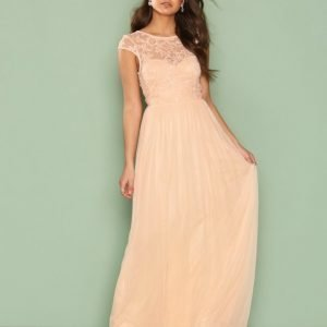 Nly Eve Follow Me Lace Gown Maksimekko Vaalea Pinkki