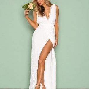 Nly Eve Forever Lace Gown Maksimekko Valkoinen