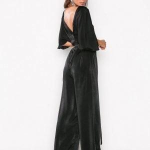 Nly Eve Kimono Sleeve Jumpsuit Musta