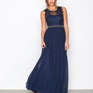 Nly Eve Lace Cover Gown Maksimekko Navy