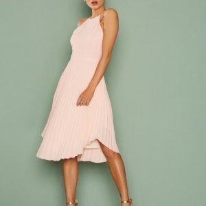 Nly Eve Lace Midi Gown Loose Fit Mekko Vaalea Pinkki