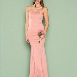 Nly Eve Low Plunge Gown Maksimekko Vaaleanpunainen