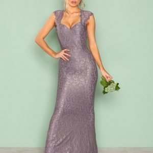 Nly Eve Mermaid Lace Gown Maksimekko Dark Lavendel
