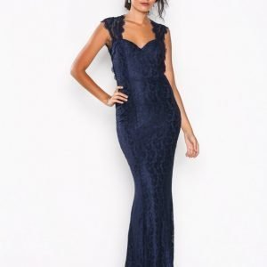 Nly Eve Mermaid Lace Gown Maksimekko Navy
