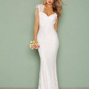 Nly Eve Mermaid Lace Gown Maksimekko Valkoinen