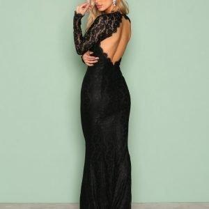 Nly Eve Mermaid Ls Gown Maksimekko Musta
