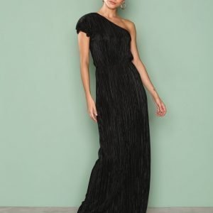 Nly Eve One Shoulder Drape Gown Maksimekko Musta