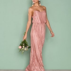 Nly Eve Pretty Pleats Gown Maksimekko Rose