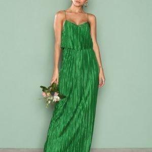Nly Eve Pretty Pleats Gown Maksimekko Vihreä