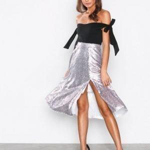 Nly Eve Sequin Skirt Midihame Champagne