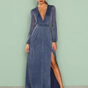 Nly Eve Shimmery Maxi Gown Maksimekko Tummansininen