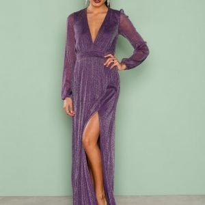 Nly Eve Shimmery Maxi Gown Maksimekko Violetti