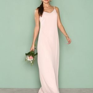 Nly Eve Simple Sparkle Gown Maksimekko Vaalea Pinkki
