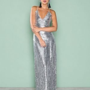 Nly Eve Slip In Sequin Gown Paljettimekko Hopea