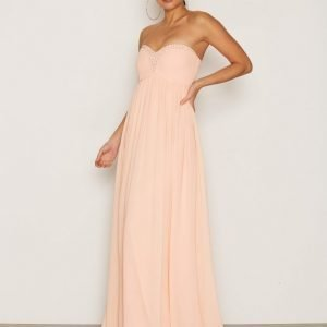 Nly Eve Sparkle Dream Gown Maksimekko Peach