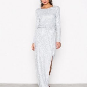 Nly Eve Sparkly Lace Gown Maksimekko Hopea