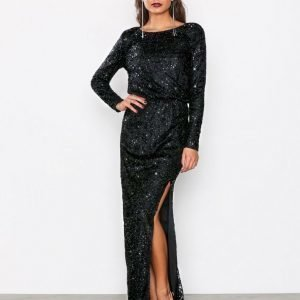 Nly Eve Sparkly Lace Gown Maksimekko Musta