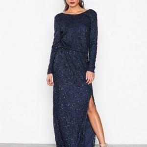 Nly Eve Sparkly Lace Gown Maksimekko Sininen