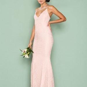 Nly Eve Strap Lace Gown Maksimekko Vaaleanpunainen