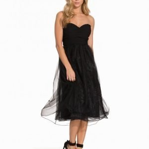 Nly Eve Sweetheart Chiffon Dress Skater Mekko Musta