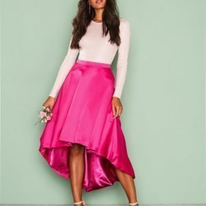 Nly Eve This One Skirt Midihame Vaaleanpunainen