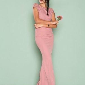 Nly Eve V Back Mermaid Gown Maksimekko Rose