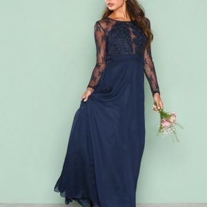 Nly Eve Whenever Lace Gown Maksimekko Navy