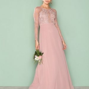 Nly Eve Whenever Lace Gown Maksimekko Rose