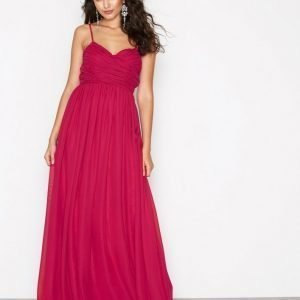 Nly Eve Wrap Bust Long Dress Maksimekko Burgundy