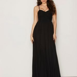Nly Eve Wrap Bust Long Dress Maksimekko Musta