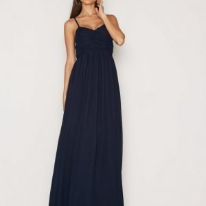Nly Eve Wrap Bust Long Dress Maksimekko Navy