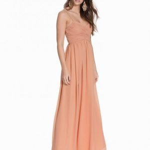 Nly Eve Wrap Bust Long Dress Maksimekko Vaaleanpunainen