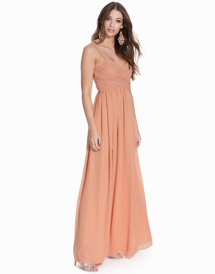 Nly Eve Wrap Bust Long Dress Maksimekko Vaaleanpunainen ... cd8374d56d