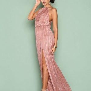 Nly Eve Yours Truly Gown Maksimekko Tumma Vaaleanpunainen