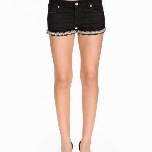 Nly Icons Diamond Black Shorts Shortsit Musta