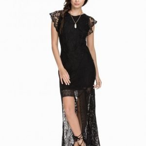 Nly Icons Holy High-Low Dress Kotelomekko Musta