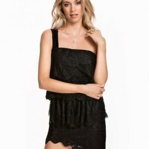 Nly Icons Layered Lace Dress Loose Fit Mekko Musta