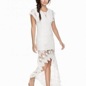Nly Icons Long Back Lace Dress Kotelomekko Valkoinen