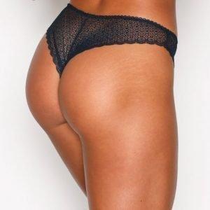 Nly Lingerie Fine Lace Panty Brief Alushousut Tummansininen