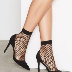 Nly Lingerie Fishnet Socks Sukat Musta 2-Pakkaus