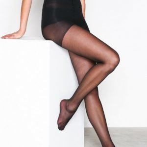 Nly Lingerie Light Control Tights 15 D Sukkahousut Musta