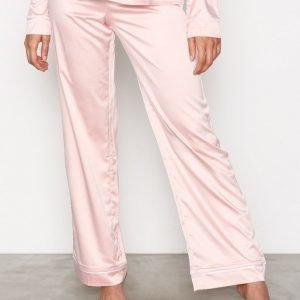 Nly Lingerie Satin Babe Pyjama Pants Pyjamahousut Dusty Pink