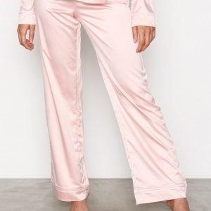 Nly Lingerie Satin Babe Pyjama Pants Pyjamahousut Dusty Pink