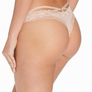 Nly Lingerie Sexy Back Strap Thong Stringit Champagne