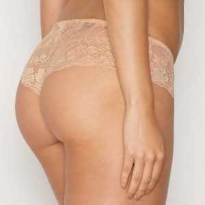 Nly Lingerie Sexy Lace Hipster Panty Alushousut Champagne